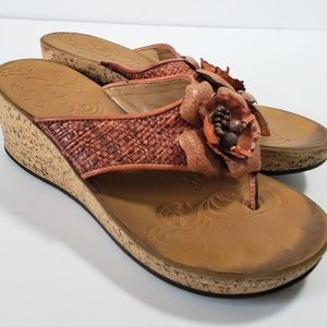 Womens Clarks Thong Wedge Sandal